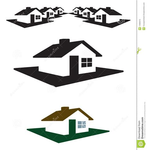 Free Virtual Home Design No Download vector house logo and header royalty free stock photo
