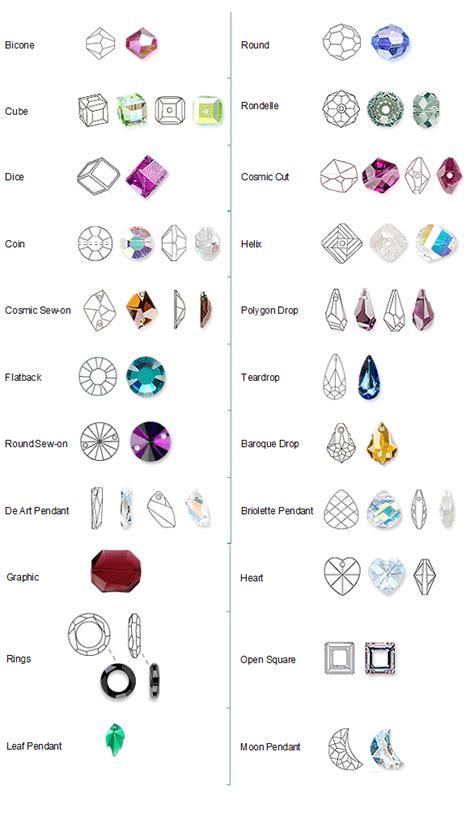 swarovski crystal shapes chart