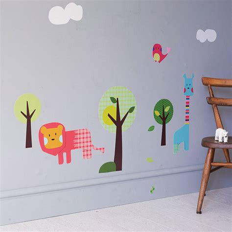 safari animal wall stickers safari animal wall stickers by spin collective notonthehighstreet