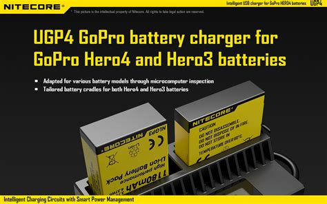 Nitecore Smart Usb Charger For Gopro 4 3 Charger Baterai Murah nitecore ugp4 lcd display smart battery charger worldwide