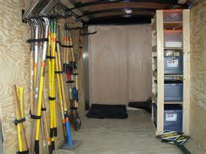 enclosed trailer shelving ideas enclosed trailer tool organization work trailer