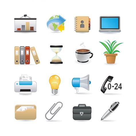 icone ufficio set di icone ufficio scaricare vettori gratis