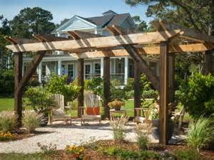 Diy Garden Pergola by Maximum Value Outdoor Structure Projects Pergola Hgtv