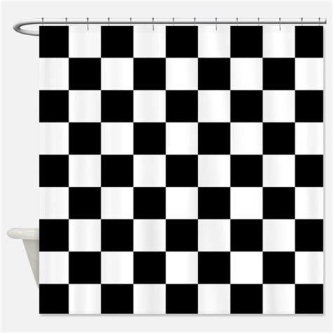 Black And White Checkered Curtains Checkered Flag Shower Curtains Checkered Flag Fabric Shower Curtain Liner