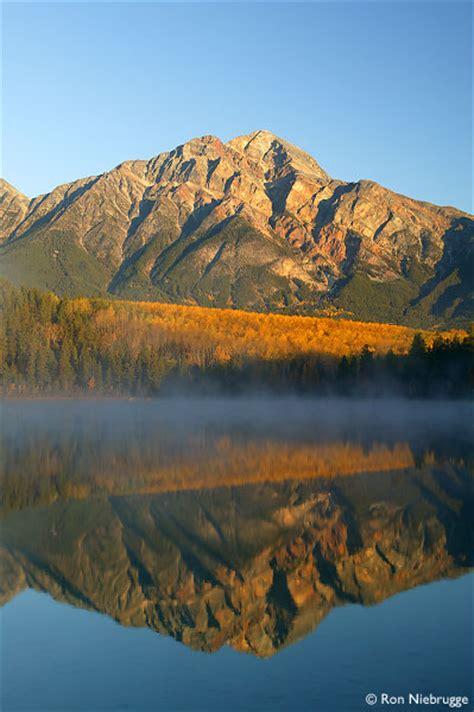 stock  pyramid lake pyramid mountain jasper national park alberta canada stock