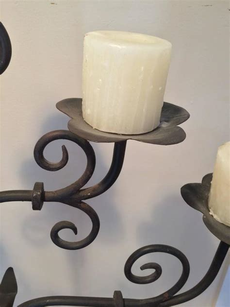 Handmade Wrought Iron - handmade wrought iron candelabra for sale at 1stdibs