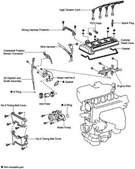 small engine service manuals 2001 toyota corolla head up display repair guides engine mechanical water pump autozone com