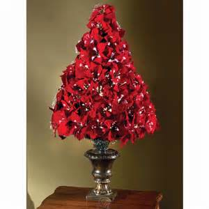 the 4 fiber optic poinsettia artificial christmas tree w