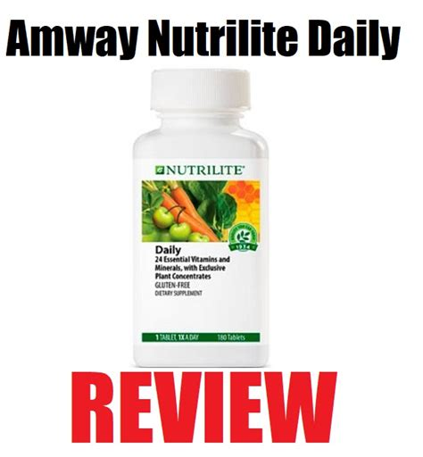 Vitamin Daily Amway Amway Nutrilite Daily Review Does This Multivitamin