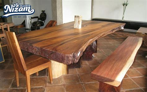 Meja Kayu Meh meja trembesi nizam furniture
