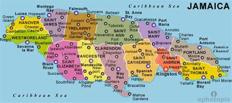 map of america showing jamaica jamaika politische karte