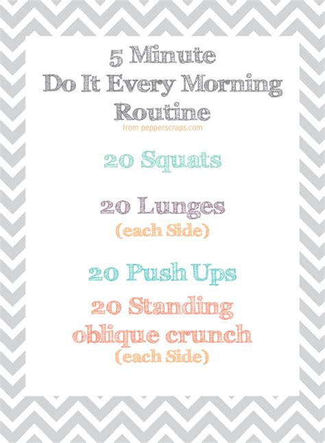 add a simple morning workout to your routine free