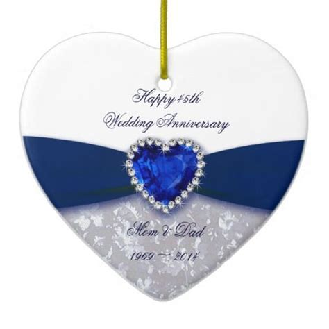 Damask 45th Wedding Anniversary Ornament   Zazzle.com