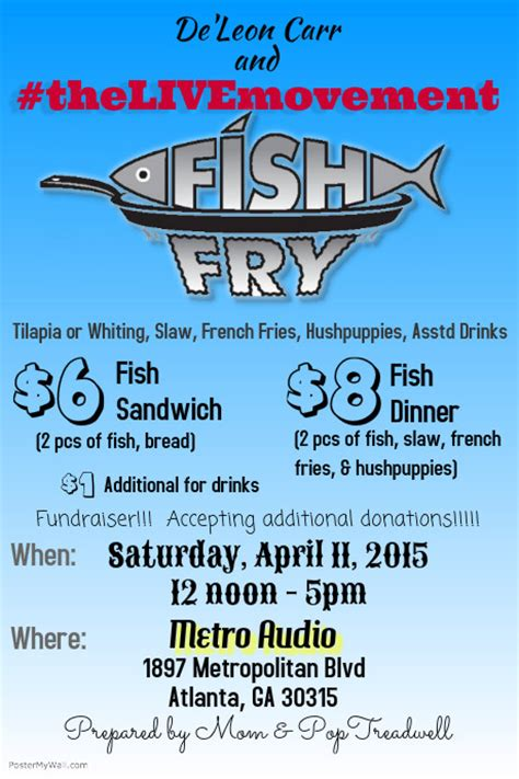 fish fry fundraiser template postermywall