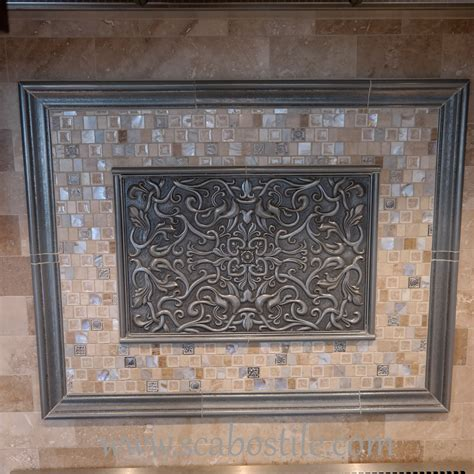 Resin Deco by Florence Silver 12x18 Resin Deco Accent Tile Metal Resin