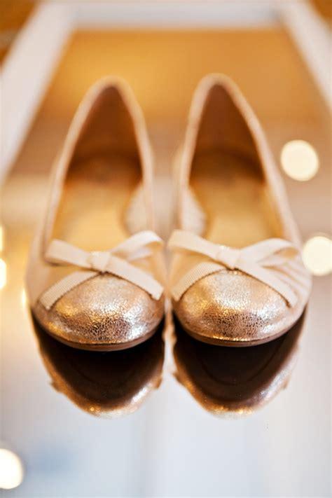 Gold Flats For Wedding by Gold Wedding Ballet Flats Elizabeth Designs The
