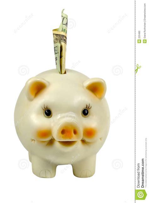 ritiro contanti in banca la banca piggy fotografia stock immagine 220480