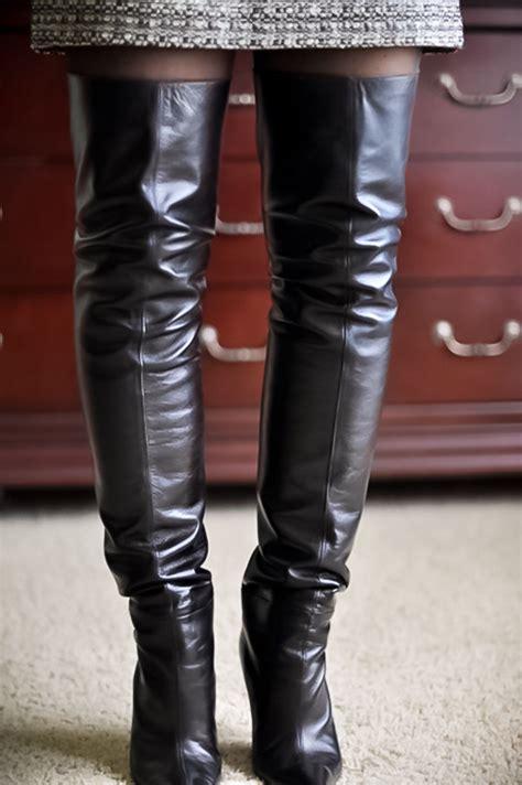 ebay leather dolce gabbana thigh high boots make a