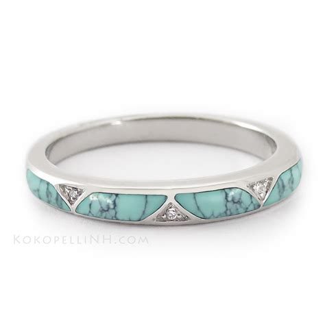 Wedding Rings With Turquoise by Pin By Artigas On My Style Turquoise