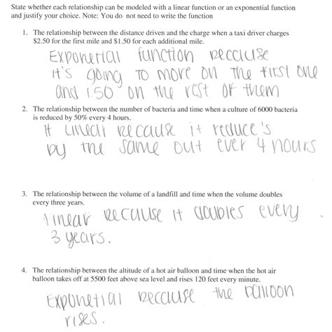 Exponential Growth And Decay Worksheet Algebra 2 Answers by 28 Exponential Functions Worksheet Answers