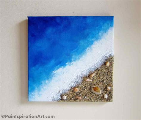 Painting Decor With Real Sand And Seashells