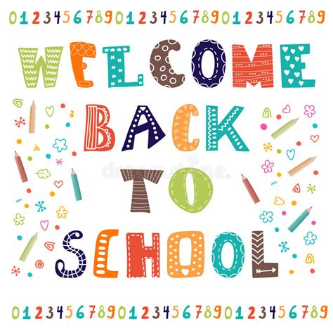 Back To School Card Template by Welcome Back To School Greeting Card Back To School