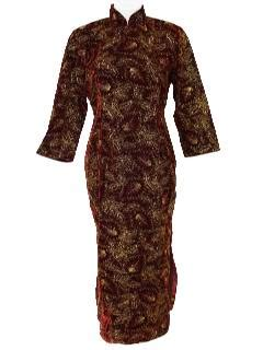 Cheongsam Jumbo Dress womens vintage cheongsam dresses at rustyzipper