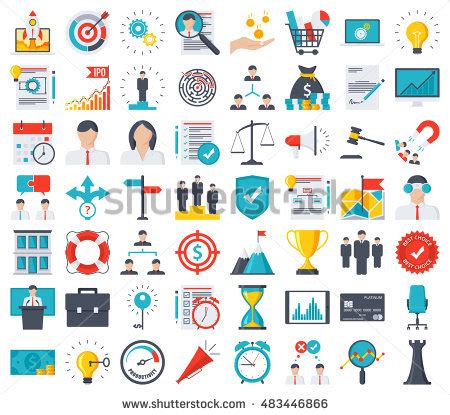 Business Icons Stock Vector More Images Of 524533800 Istock Business Icons Em Vetor Stock 483446866