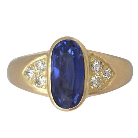 3 39 carat sapphire gold dress ring for