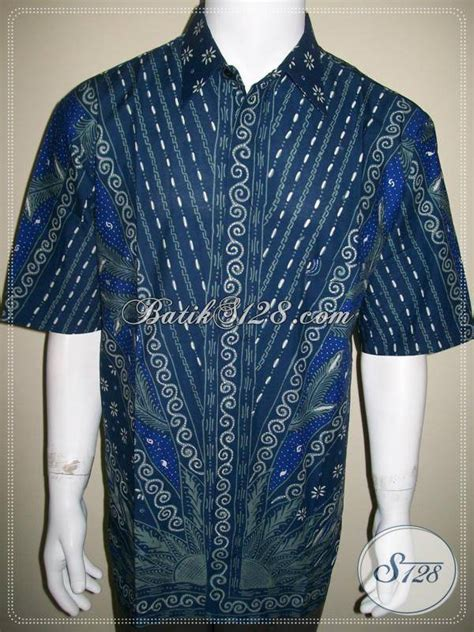 kemeja batik biru batik tulis ukuran big size jumbo besar ld449t toko batik 2018