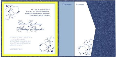 sapphire blue and yellow wedding invitations