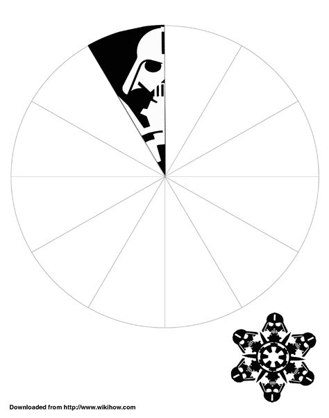 printable star wars snowflake templates printable darth vader snowflake template wikihow