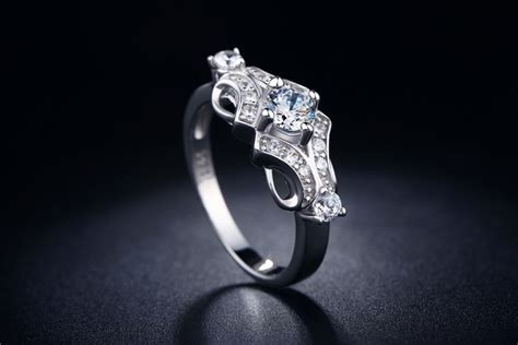 Eropah White Gold 40 sale cz jewelry wedding engagement rings for