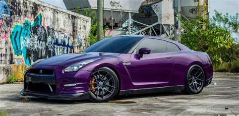 midnight purple chrome midnight purple and carbon nissan gt r