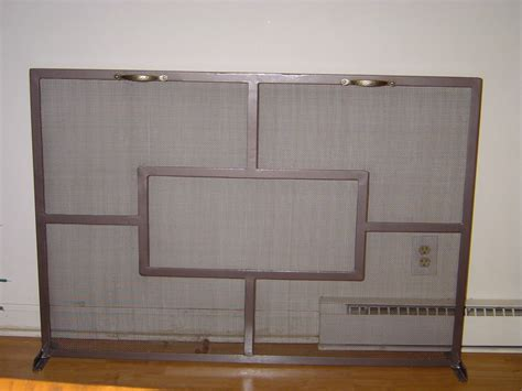 replacement fireplace mesh screen on custom fireplace