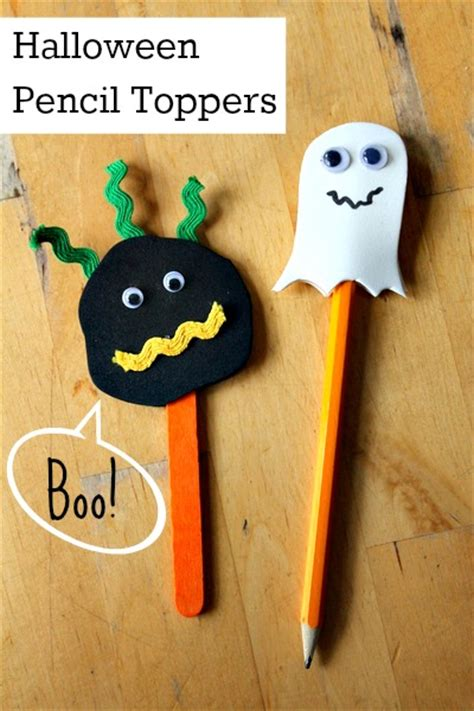 spooky crafts bostik simple craft for spooky pencil