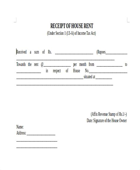 Payment Rent Receipt Template by 7 Sle Payment Receipt Forms Sle Templates
