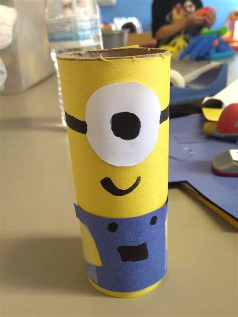 Minion Toilet Paper Roll Craft - toilet paper roll despicable me minion crafts 4 school