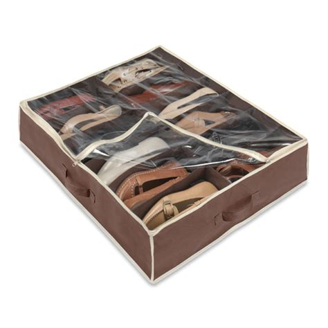 shoe organizer bed shoe organizer brown in bed storage