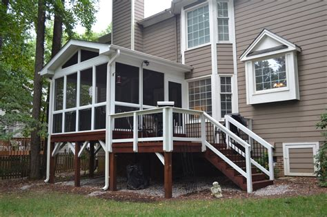 how to screen in a deck with no roof adding a small screened porch