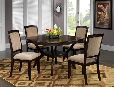 casual dining room chairs dining table modern round dining room set with brown