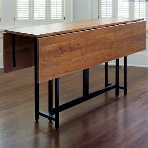 origami drop leaf dining table crate  barrel detail   narrow dining room table