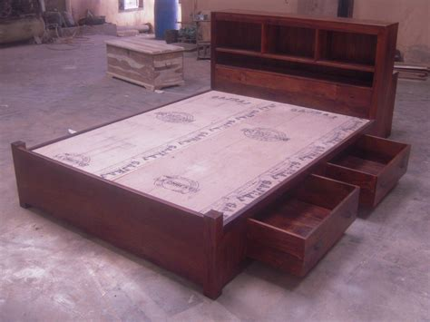 indian bed indian wooden storage bed wooden double bed wooden