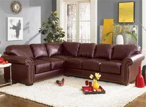 Gray Dining Rooms by Classic Sectional Sofa Cassidy L190 Burgundy