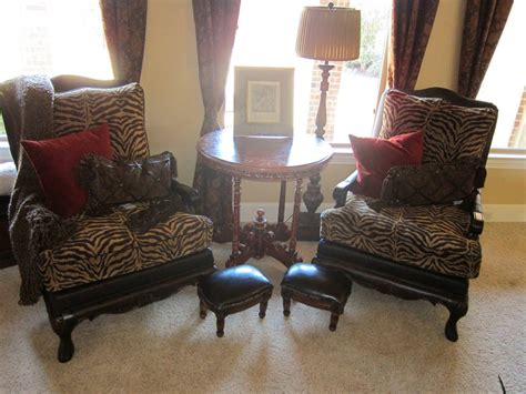 accent chairs for the living leopard decor for living room peenmedia
