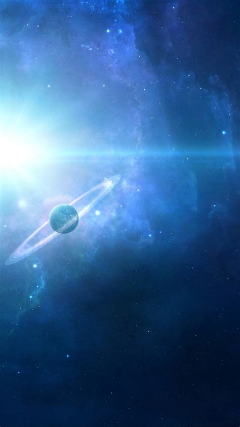 space planets blue galaxy iphone wallpaper iphone wallpapers