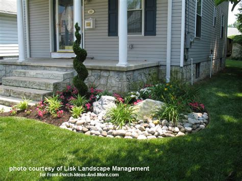Front Porch Garden Ideas Front Yard Landscape Designs With Before And After Pictures