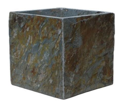 Square Outdoor Planters Large by Large Slate Square Planter