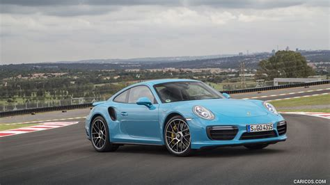miami blue porsche wallpaper 2016 porsche 911 turbo s coupe color miami blue front