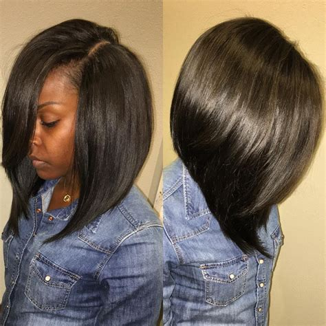 long bob sew in hairstyles love a deep side part pinteres